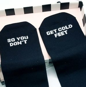 "Other - ""So You Don't Get Cold Feet"" Groom Gift Sock Set"